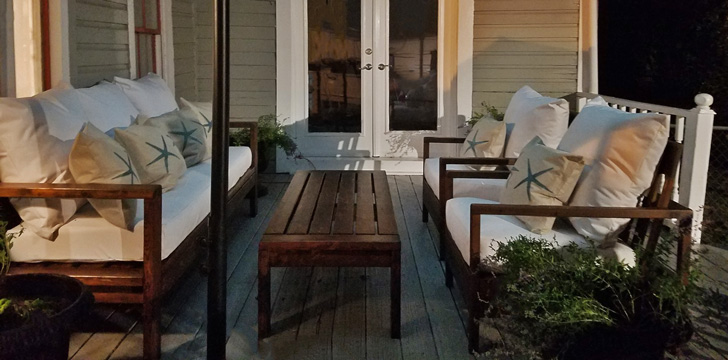 modern outdoor seating diy
