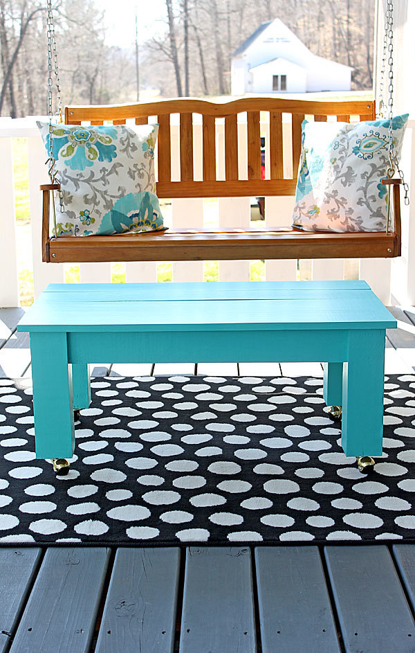 ana white easy farmhouse style coffee table or bench feature from shabby creek cottage diy. Black Bedroom Furniture Sets. Home Design Ideas