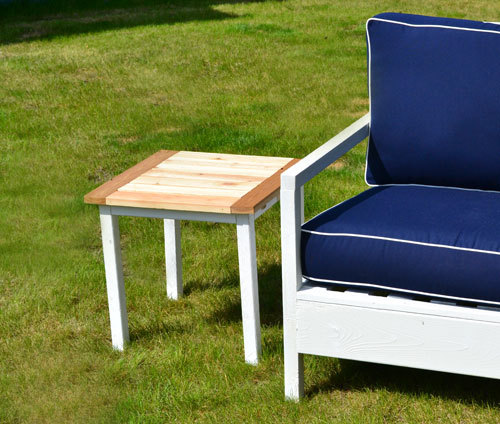 Simple White Outdoor End Table Ana White