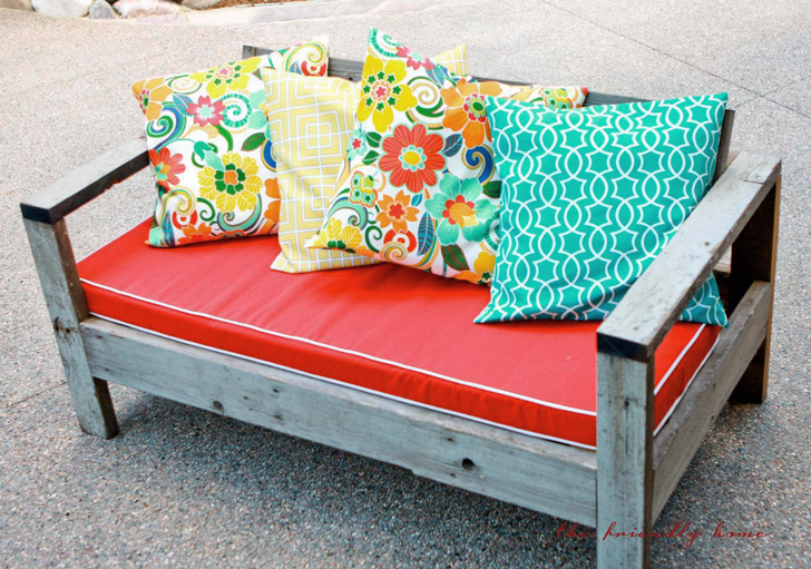 outdoor loveseat plans