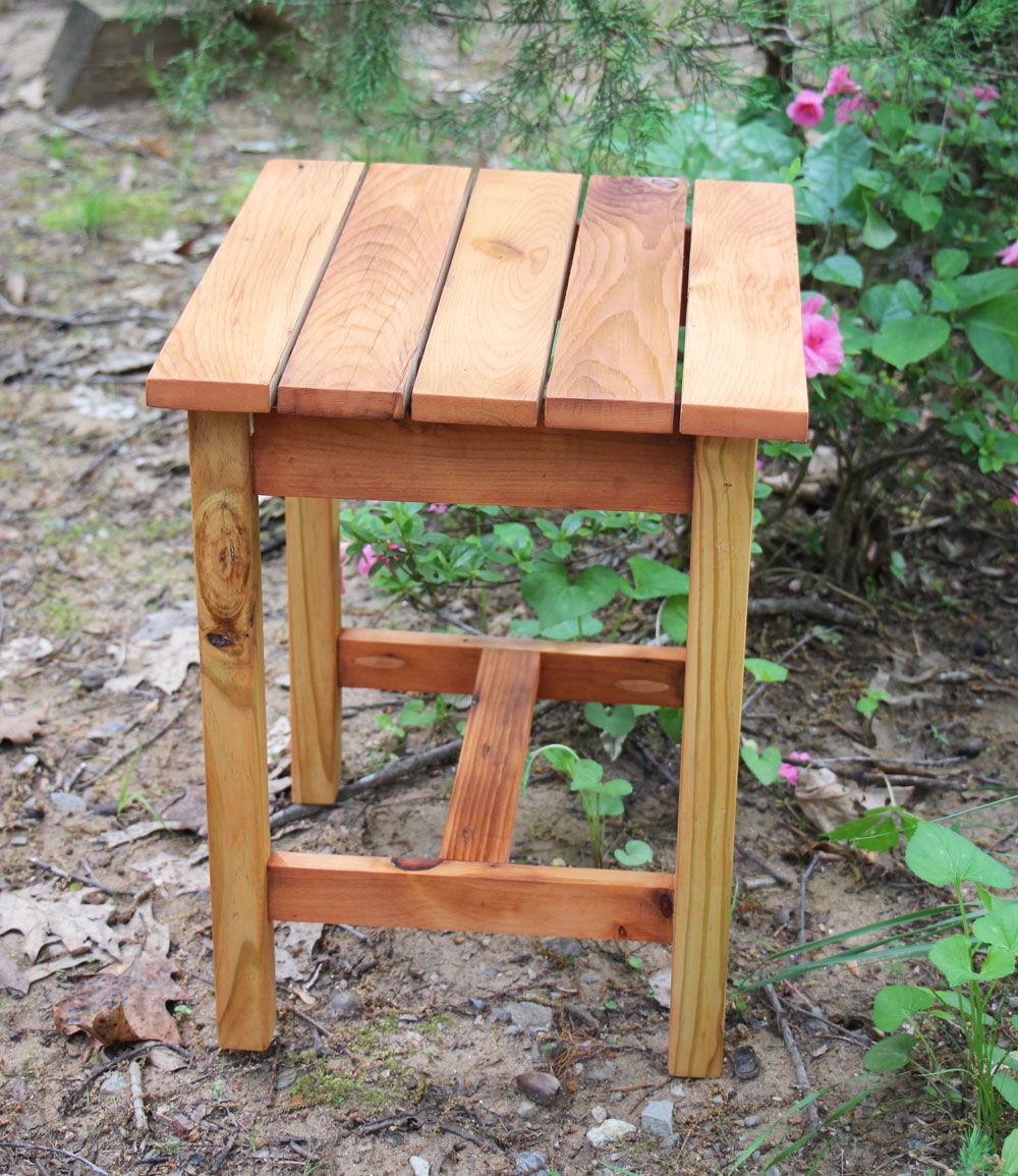 Cedar Outdoor Side Table First Project Ana White