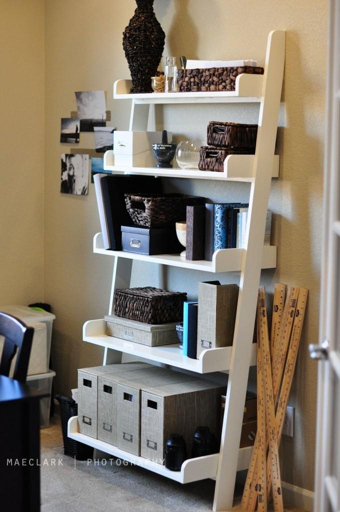 ana white   leaning wall shelf - diy projects Ladder Shelf Nightstand