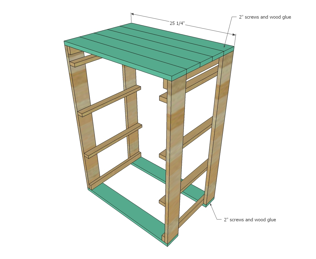 Add The Rails For The Laundry Baskets. Make Sure You Measure Your Baskets  And Adjust To Fit.
