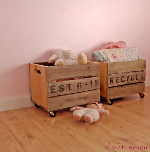 Ana White  Vintage Crate Carts  DIY Projects