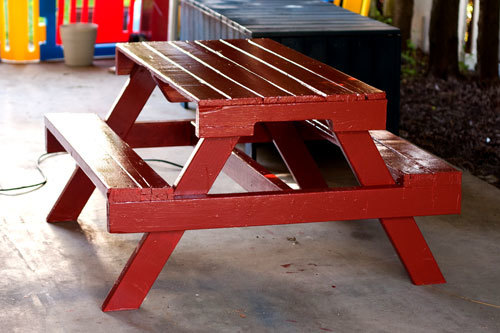 How To Make A Kids Picnic Table From Pallet Recycle What Would Have Been Trash Into Very Useable And Cute
