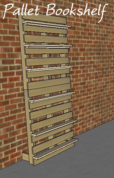 If You Dont Have Enough Pallet Wood To Make The Shelves Youll Need Buy Some 1x4s In Sketchup Are 36 Long