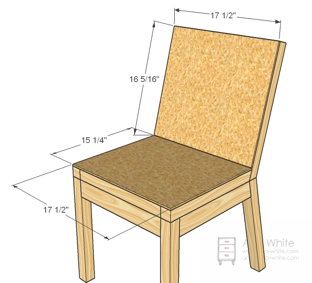 Ana white parson chair plans diy projects for Easy chair designs