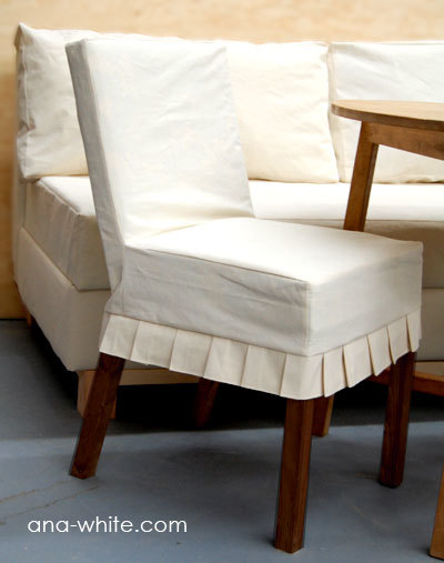 Drop Cloth Parson Chair Slipcovers