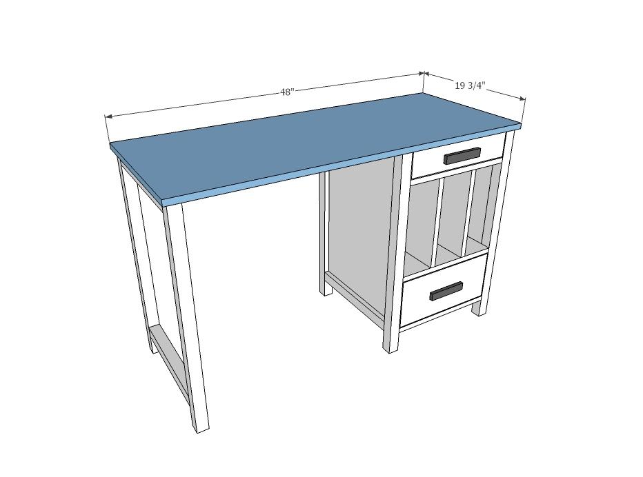 Plans For Desk White Art Desk