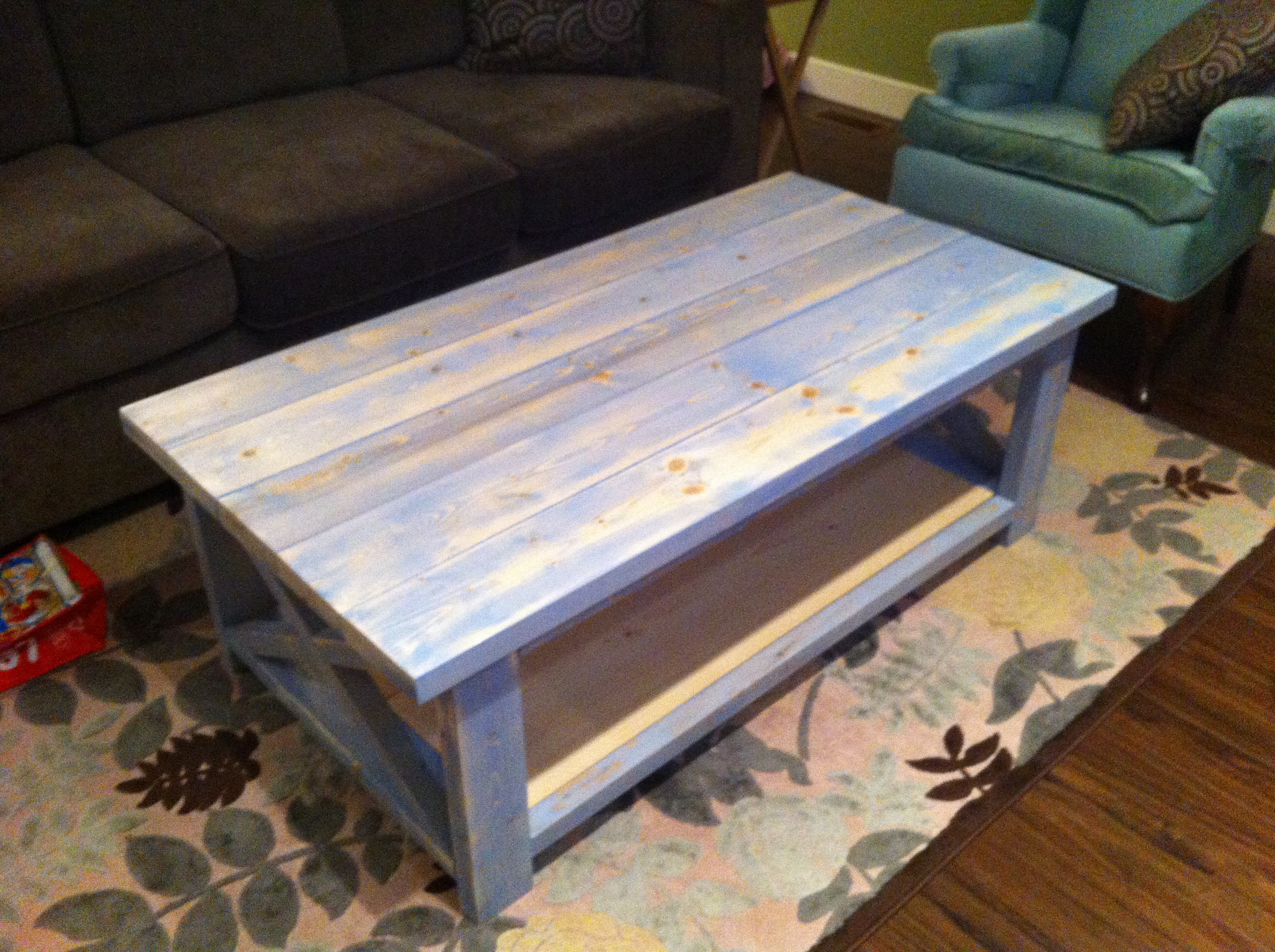 Our First Build Rustic X Coffee Table Plans Ana White