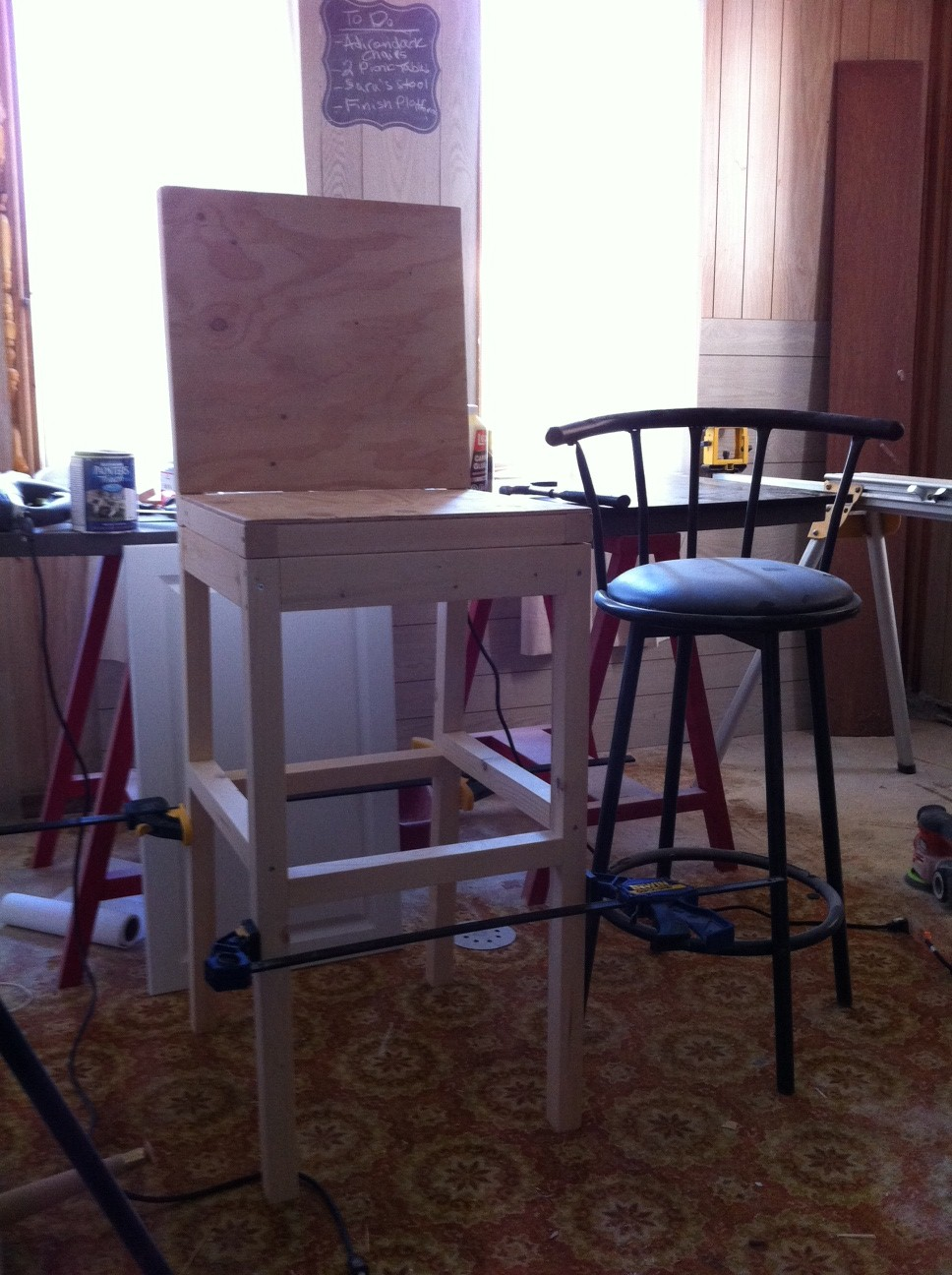 Ana White Extra Tall Upholstered Bar Stool Diy Projects