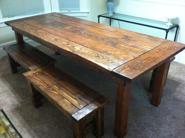 Wanted A Big Rustic Farm Table Didn 39 T Want To Drop Thousands On One