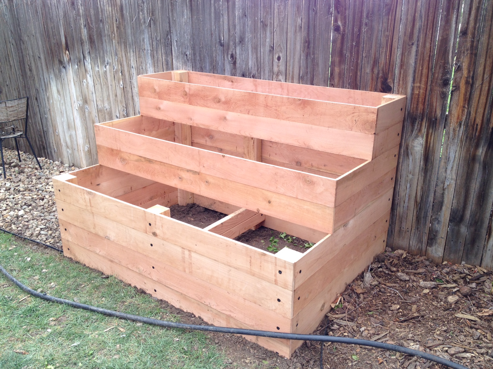 Ana White Cedar Raised Garden Beds 3 Tiers Diy Projects