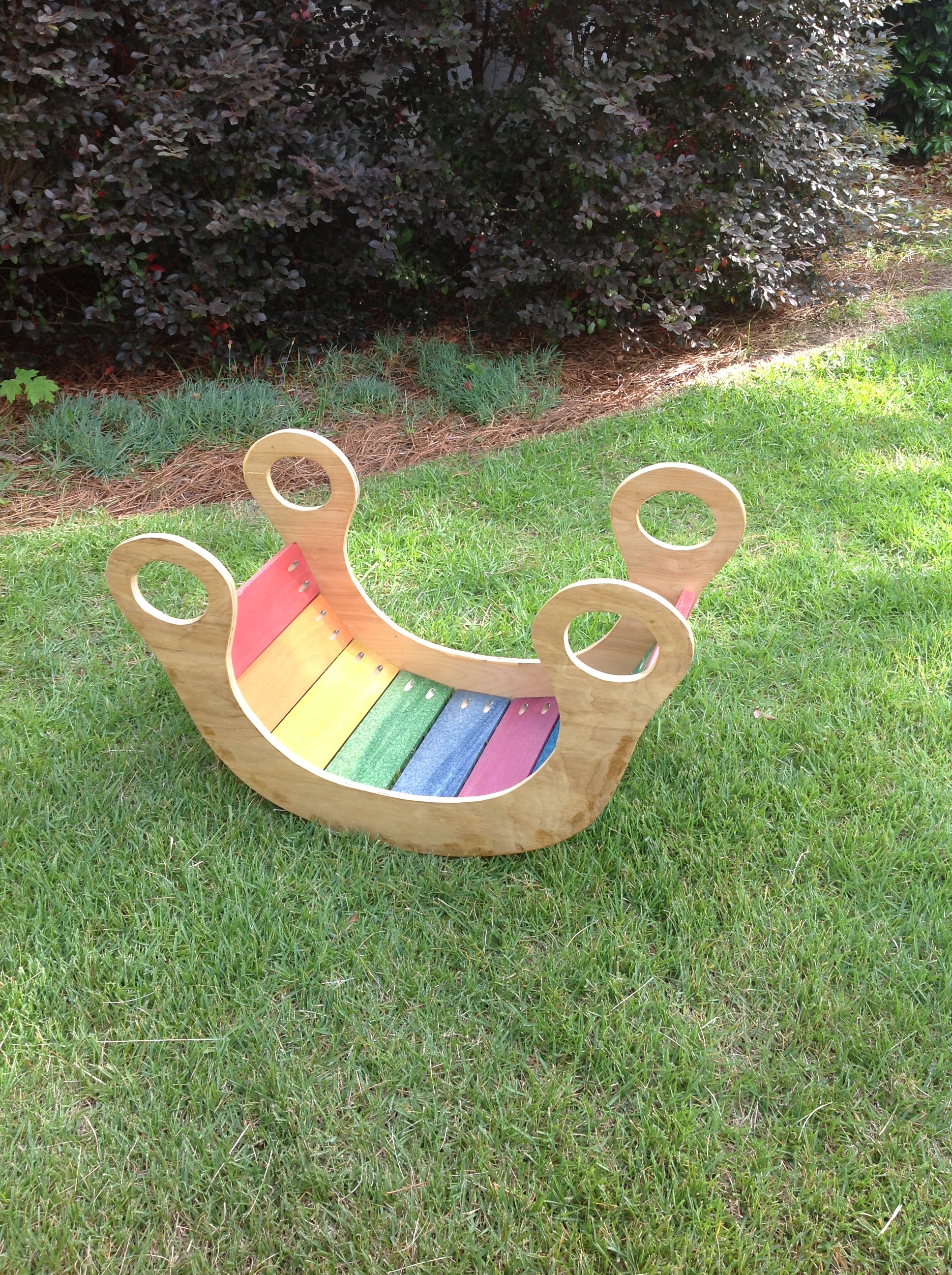 child's rainbow rocker toy | ana white