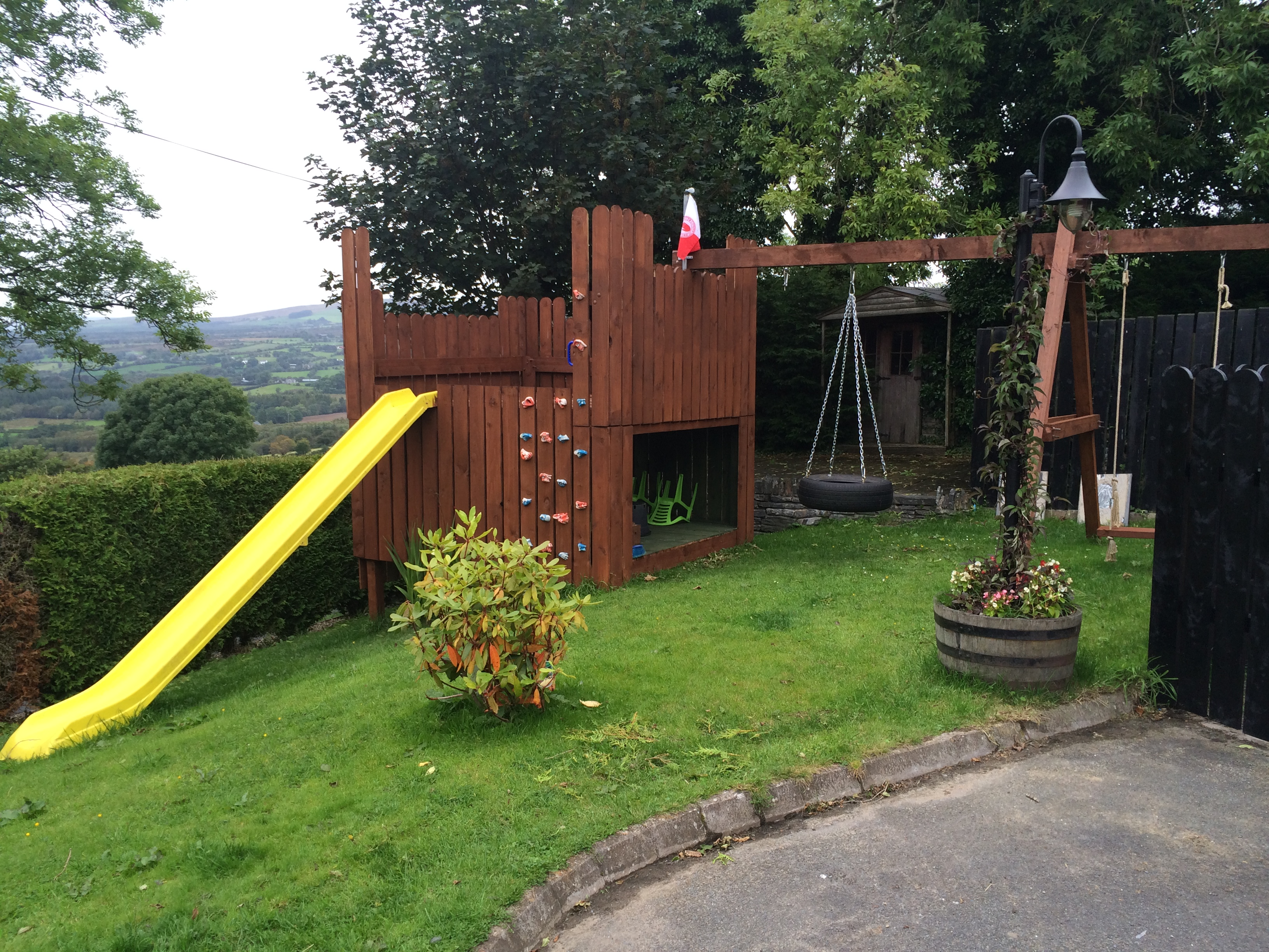 ana white play deck and swing diy projects