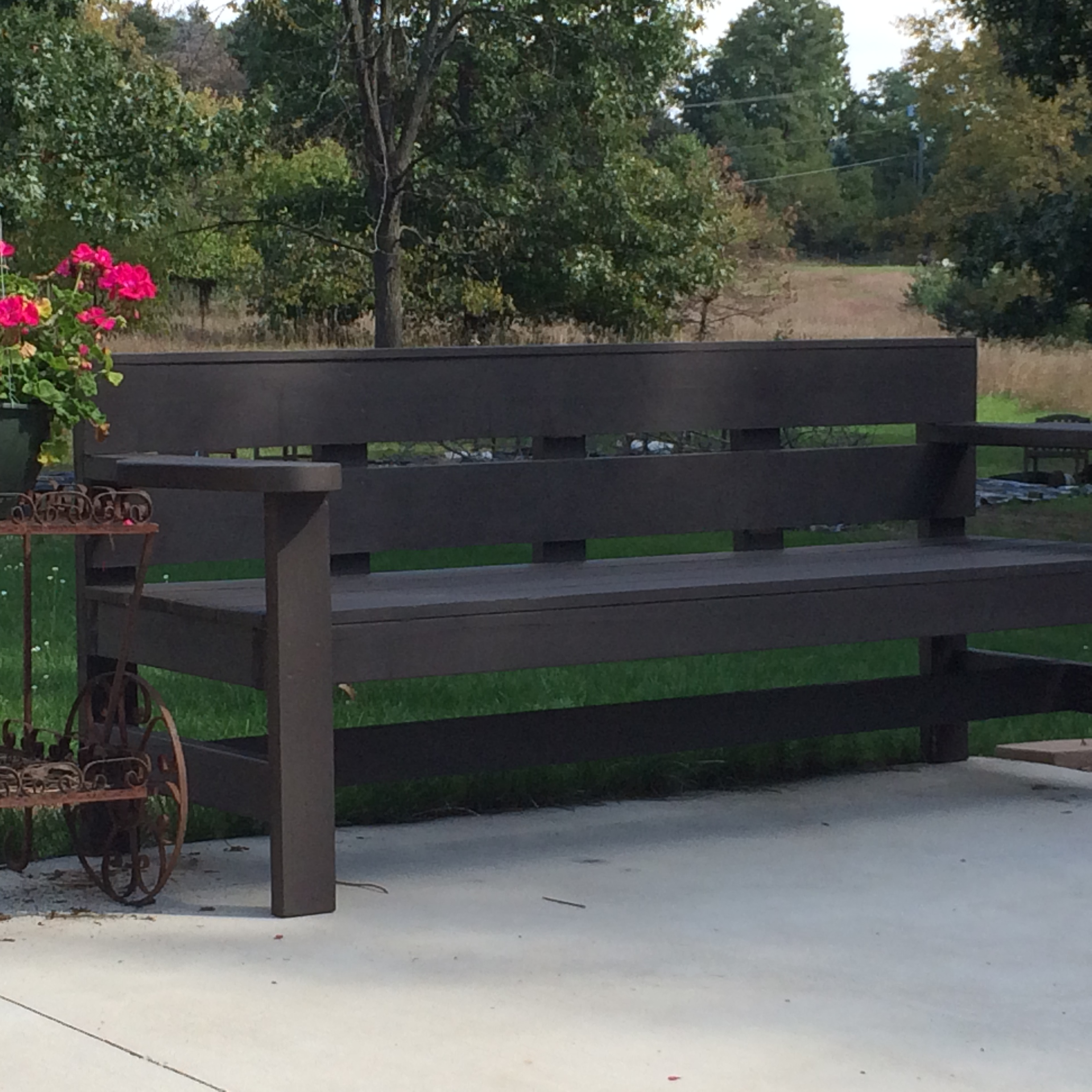 Ana white modern park bench diy projects for Park chair design