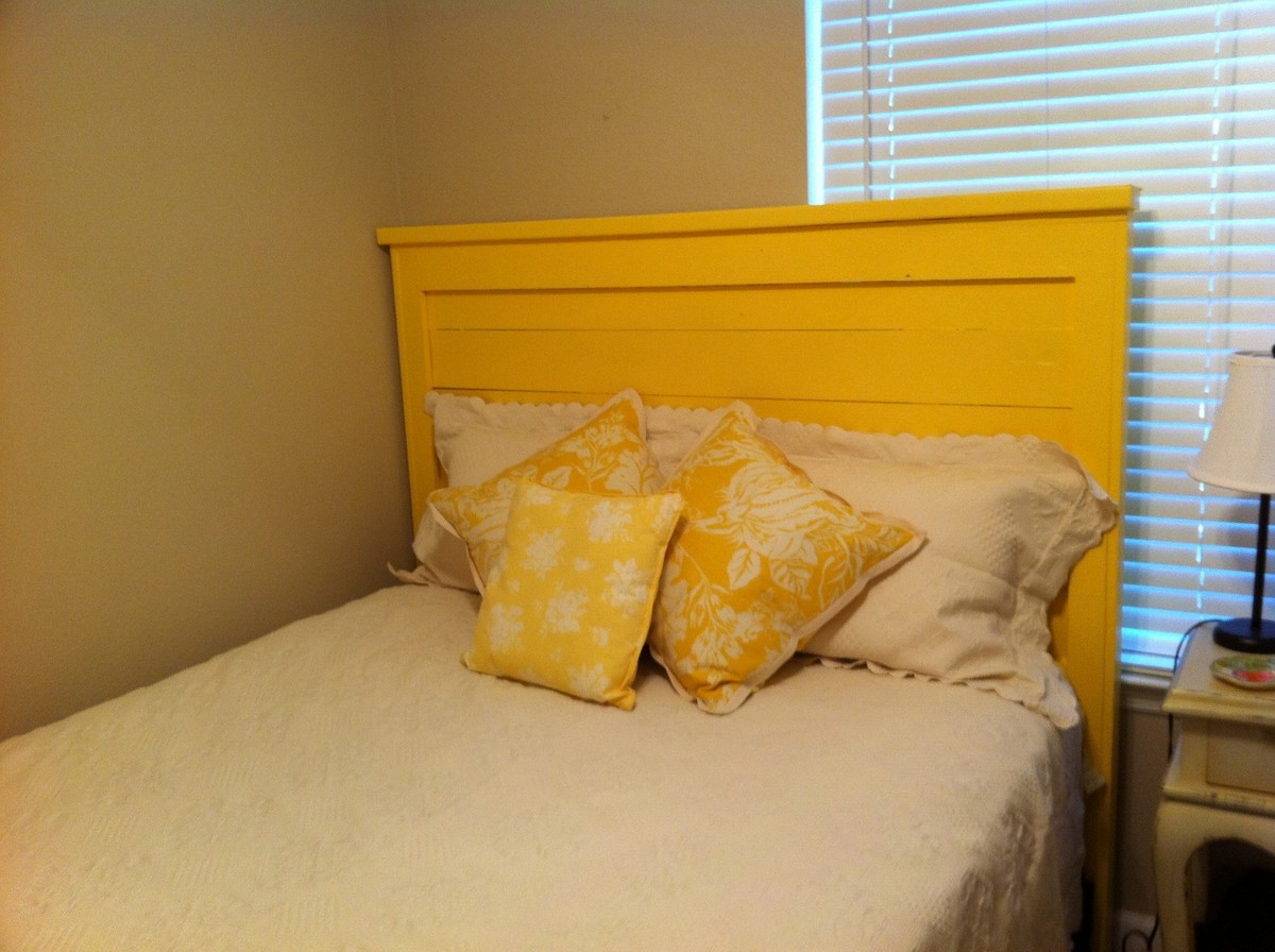 ana white  yellow queen headboard  first project  diy projects, Headboard designs