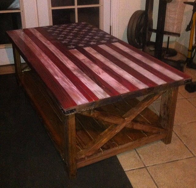 Ana White American Flag Rustic Coffee Table Diy Projects