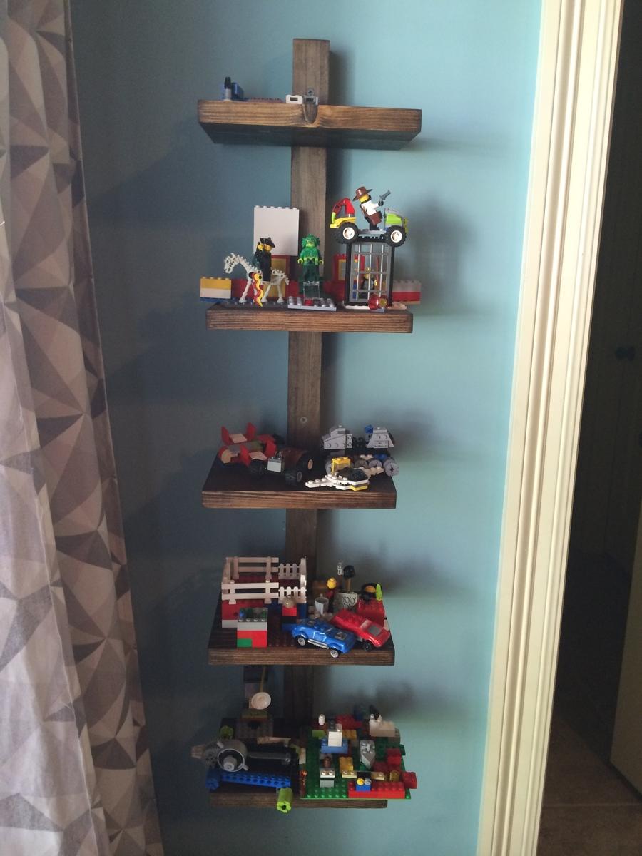 ana white   lego display shelf - diy projects Bedroom Display Shelves