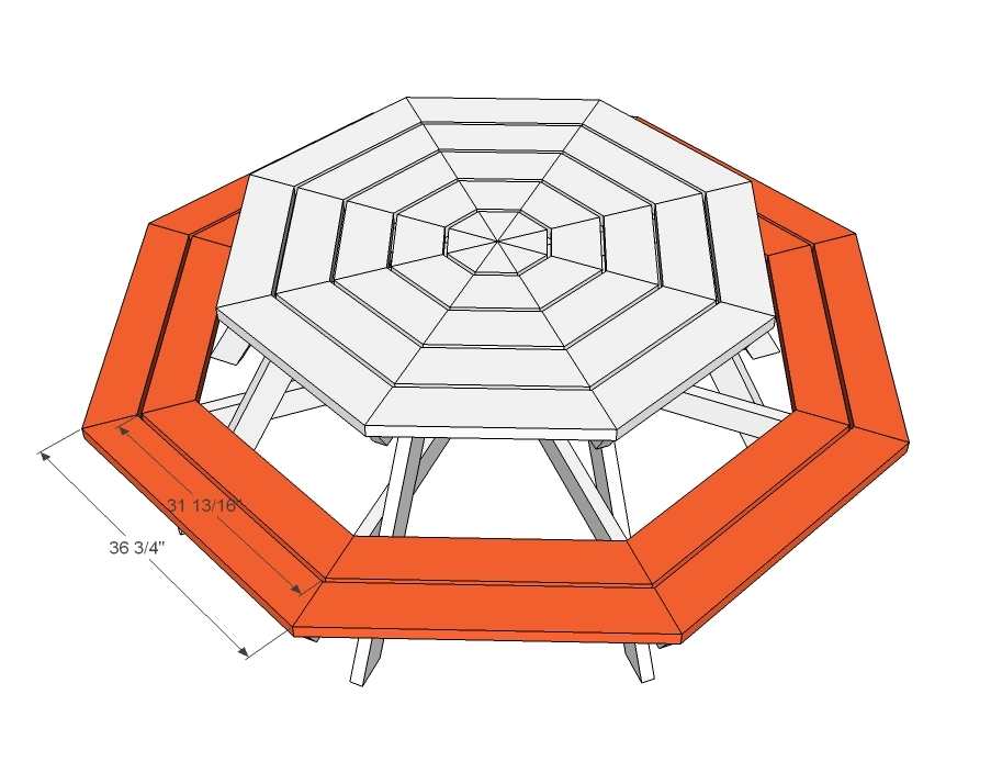 prodigious How To Make A Octagon Picnic Table Part - 17: Ana White
