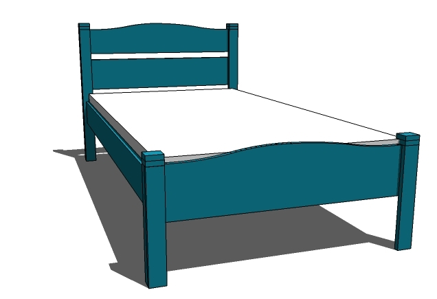 dezignito: Twin bed free woodworking plans download