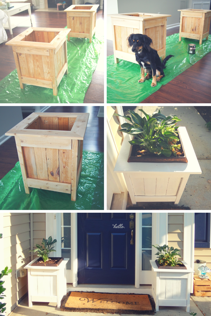 Ana white diy planter boxes with pallet wood diy projects for House projects plans