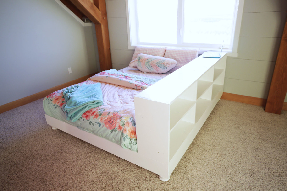 But on the other side of the bed is lots of storage and room. & Ana White | Teen Platform Bed with Storage Side - DIY Projects