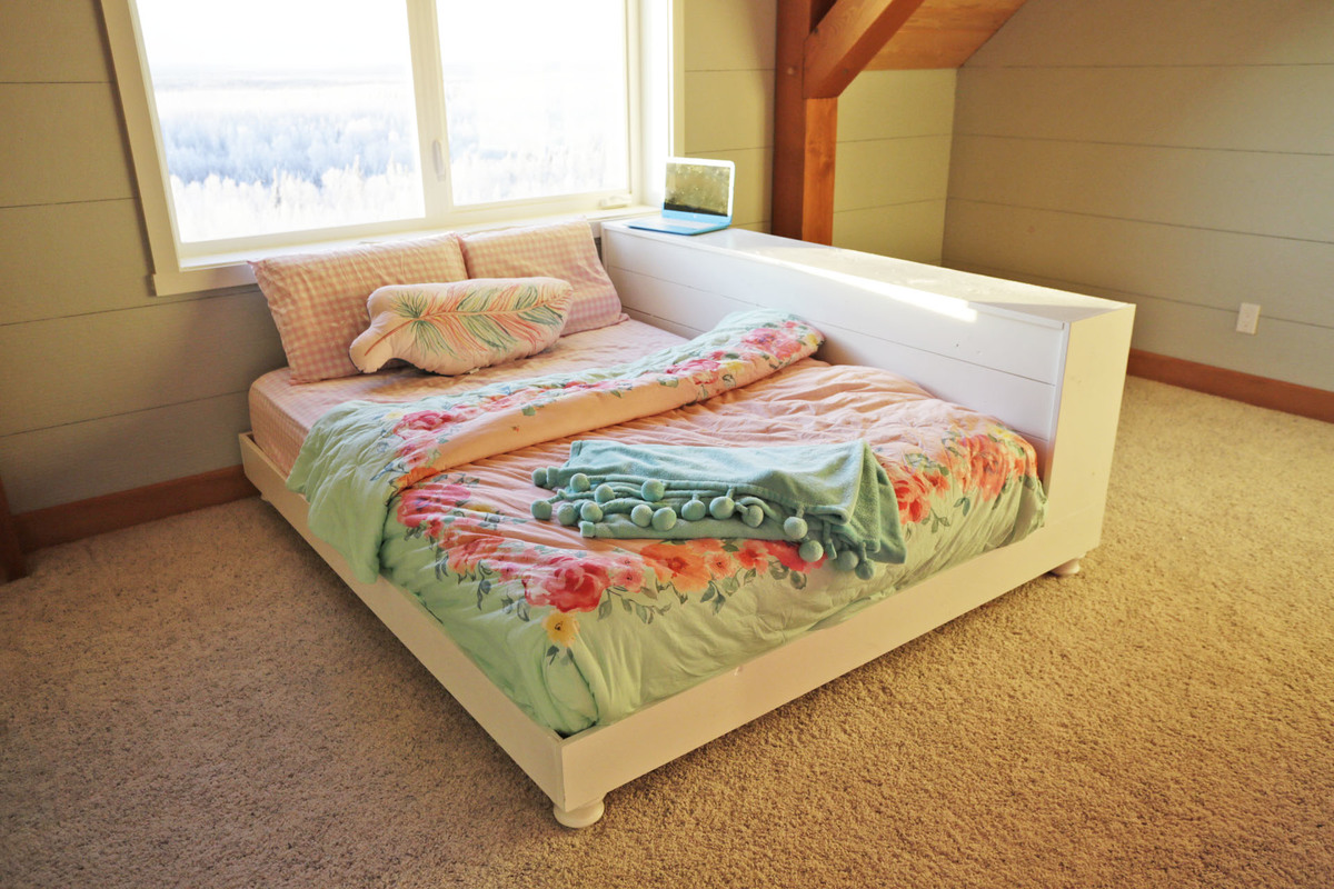Ana White Teen Platform Bed With Storage Side Diy Projects