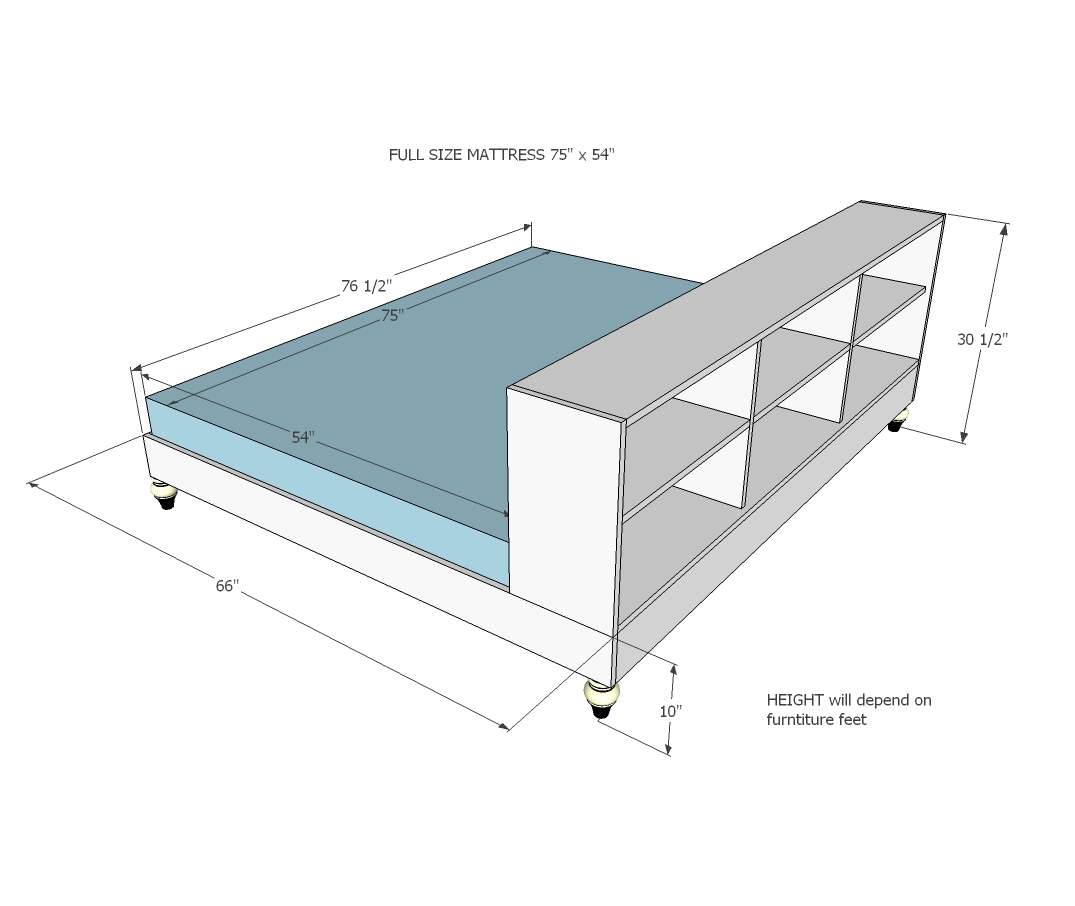 So We Took The Bed Dividing Room Idea One Step Further And Designed A Platform With Storage Side On It