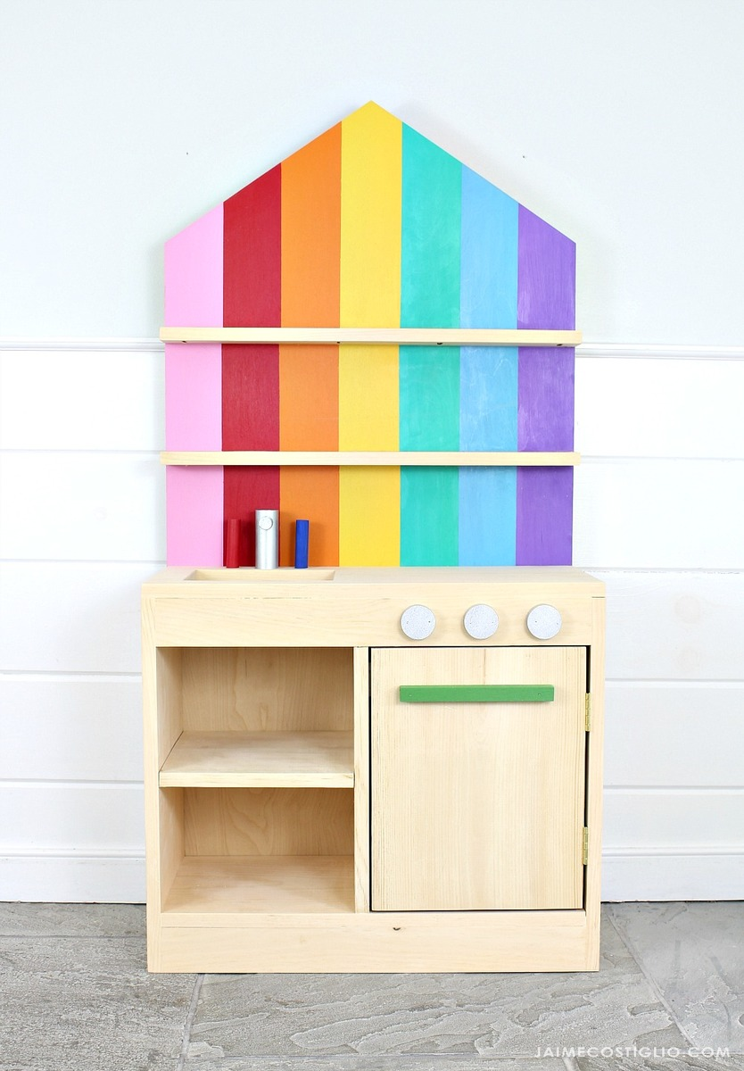 Diy Play Kitchen With Back Wall Ana White