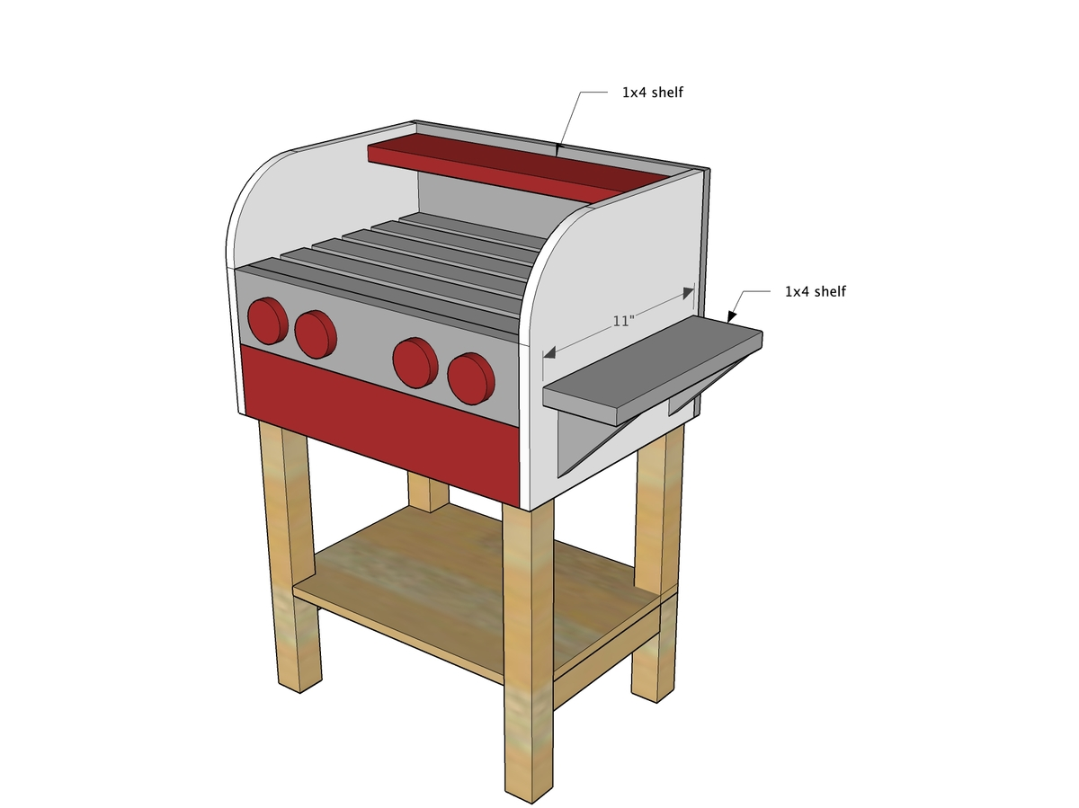 Ana White | Kids Wood Play Toy Grill - DIY Projects