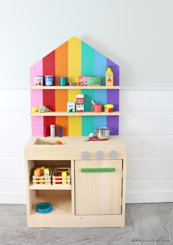 A New Easy To Build Play Kitchen The Is Just 1x12 Boards Door Too And Back An Off Shelf 24 X 48 Plywood Panel So No Difficult