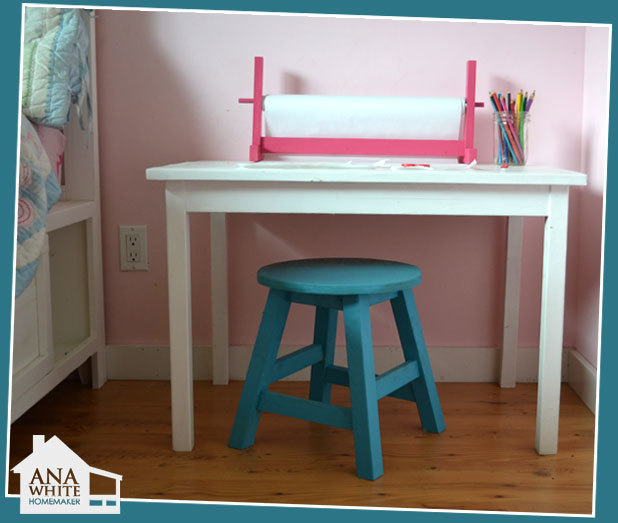 Make Your Kids Their Very Own Stools This Diy Project Is Free And Contains Step By Instructions So You Can Build From Wood Boards