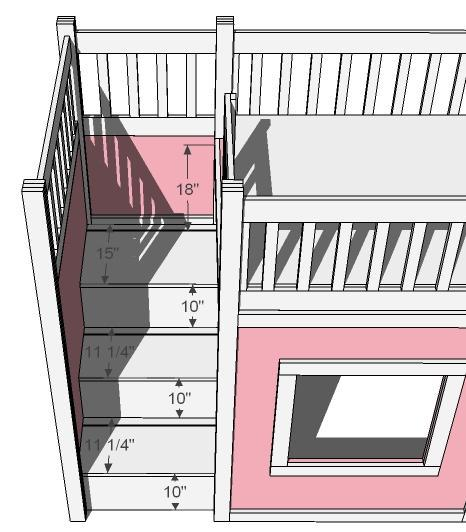 loft bed staircase plans 1