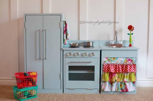 Blue Wooden Play Kitchen ana white | simple play kitchen stove - diy projects