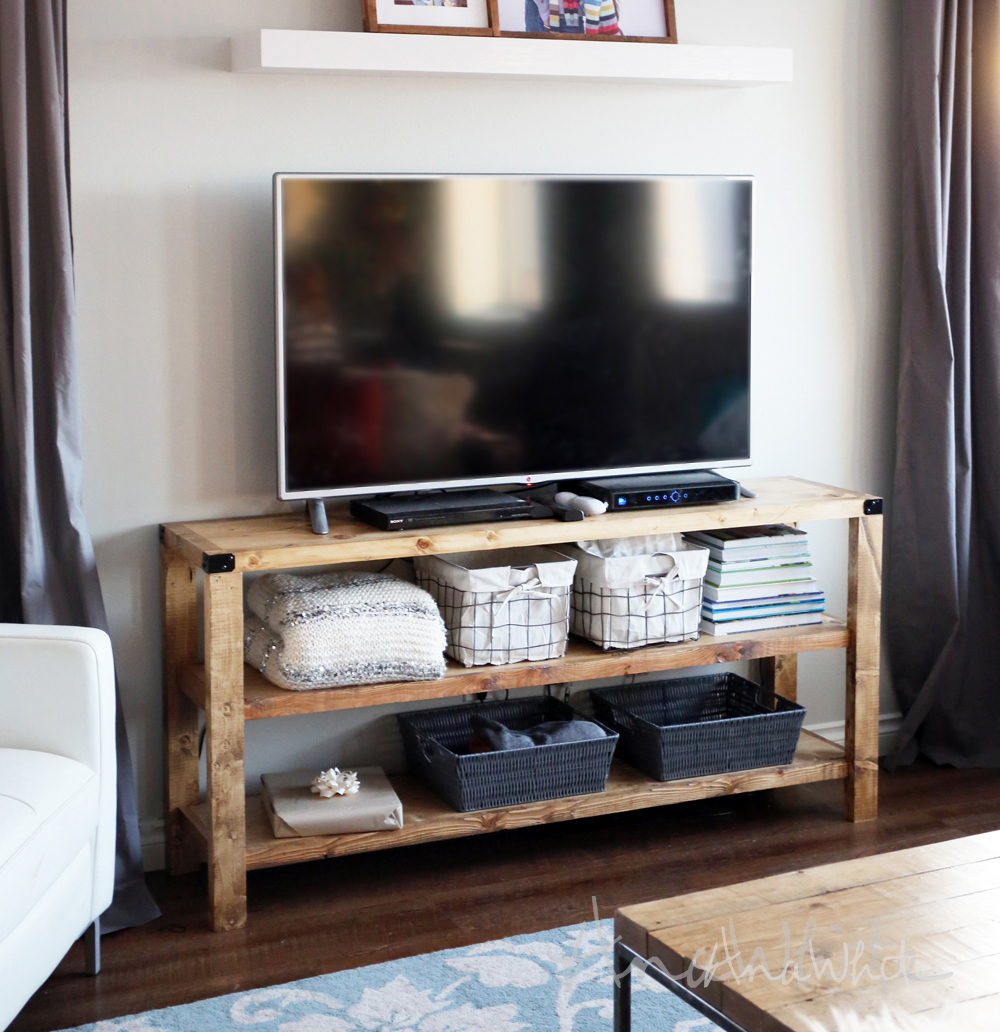 Ana white henry media console diy projects White media console