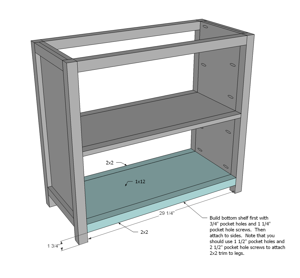 Step 4 Instructions: Attach Side Trim To Shelf. Then Attach Entire Shelf To  The Side Panels.