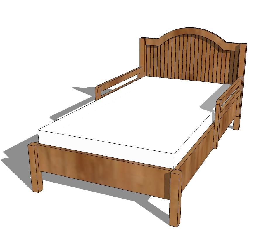 Traditional Wood Toddler Bed Ana White