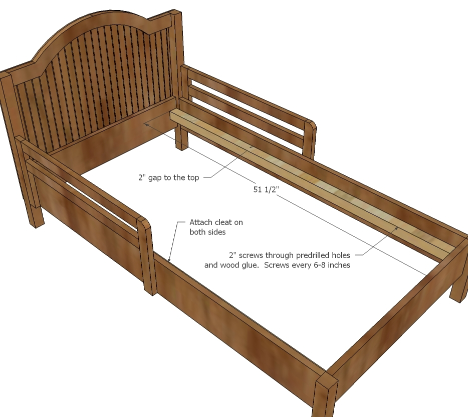 Catalina Toddler Bed Parts