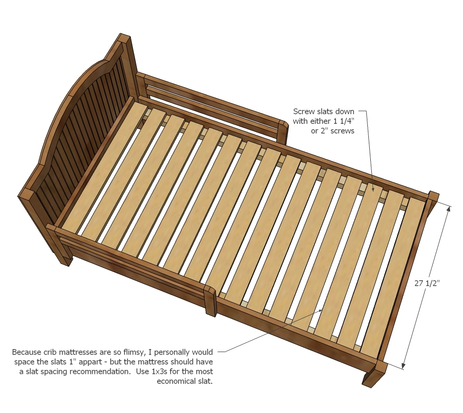 Ana White | Traditional Wood Toddler Bed - DIY Projects