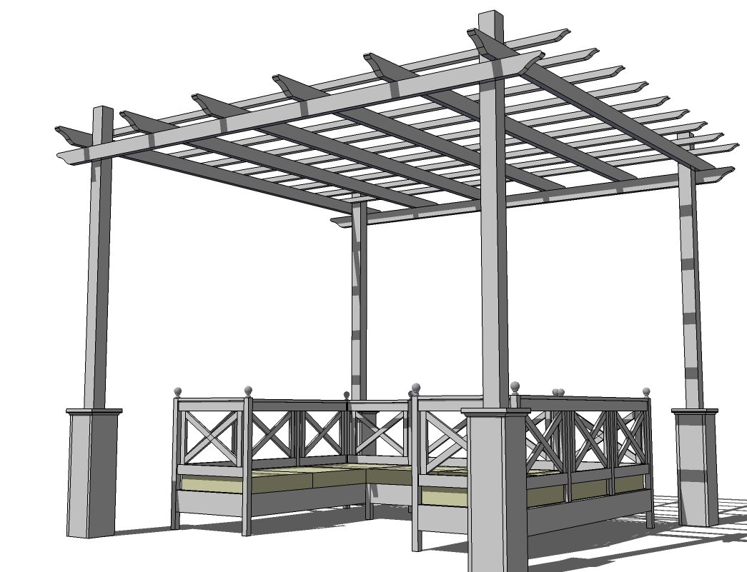 Weatherly Pergola - Ana White Weatherly Pergola - DIY Projects