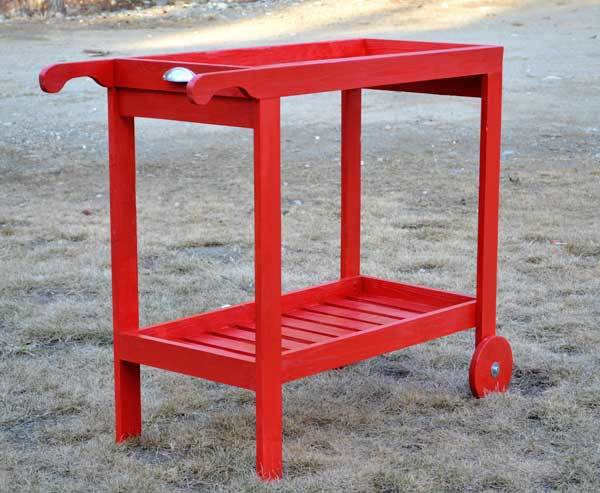 Rolling Bar Cart With Removable Tray