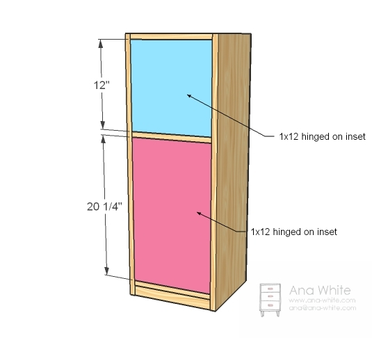 Wooden Play Kitchen Plans ana white | old school play fridge (narrow) - diy projects