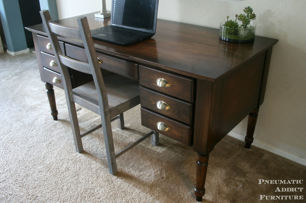 Ana white turned leg traditional desk diy projects for Pottery barn printer s desk reviews