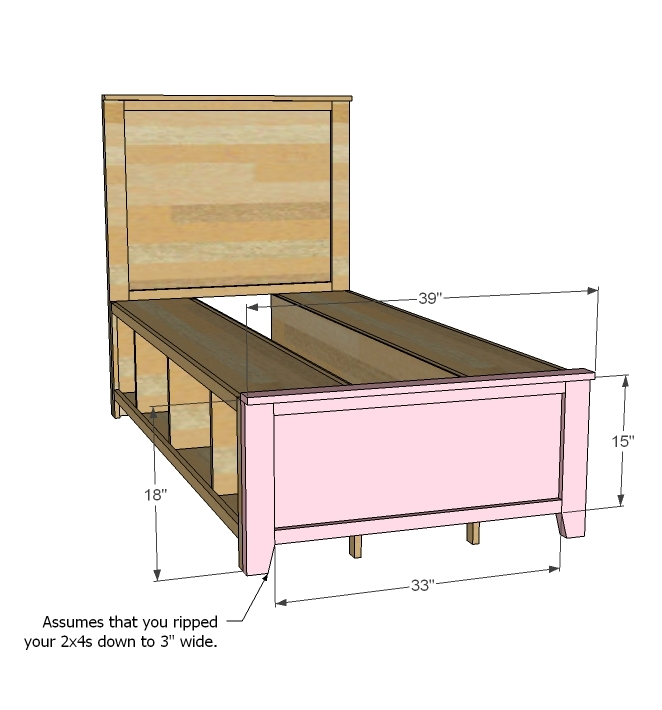 Ana White | Hailey Storage Bed - Twin - DIY Projects