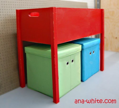 raised toy box