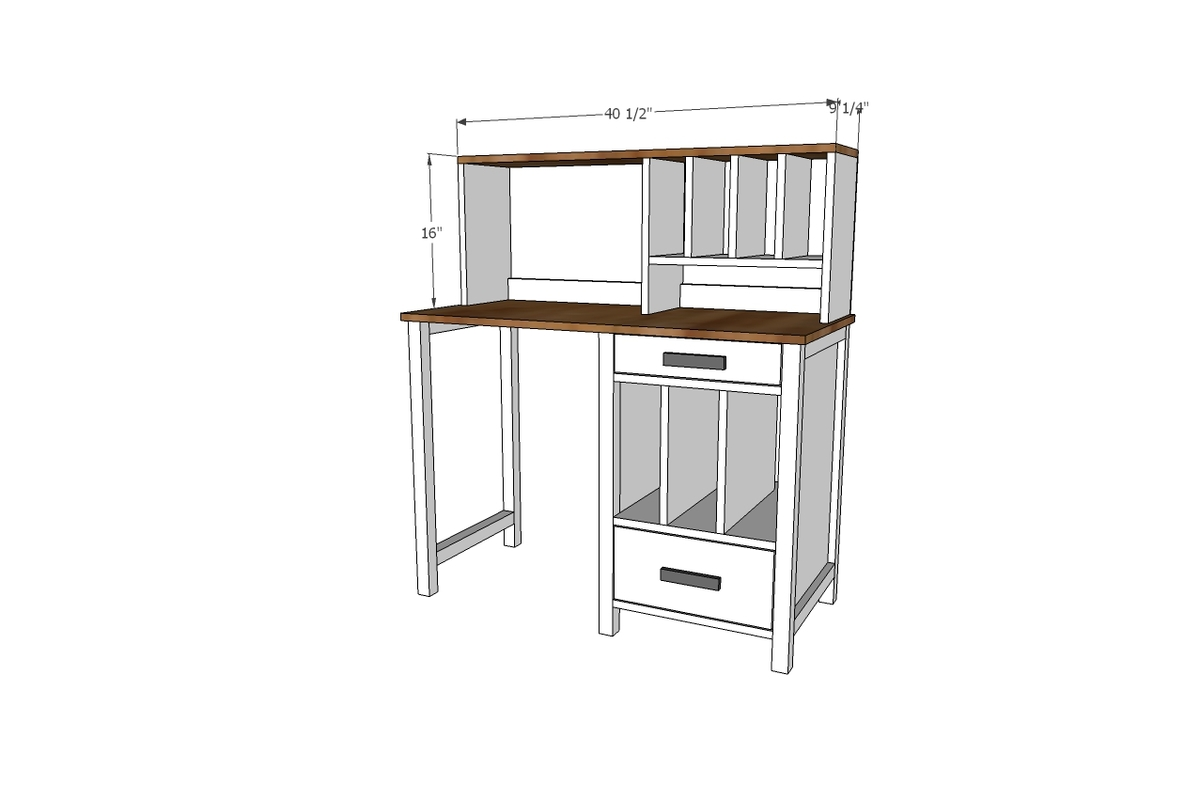 So Jillian And I Teamed Up Again To Get You The Hutch Plans Match Desk