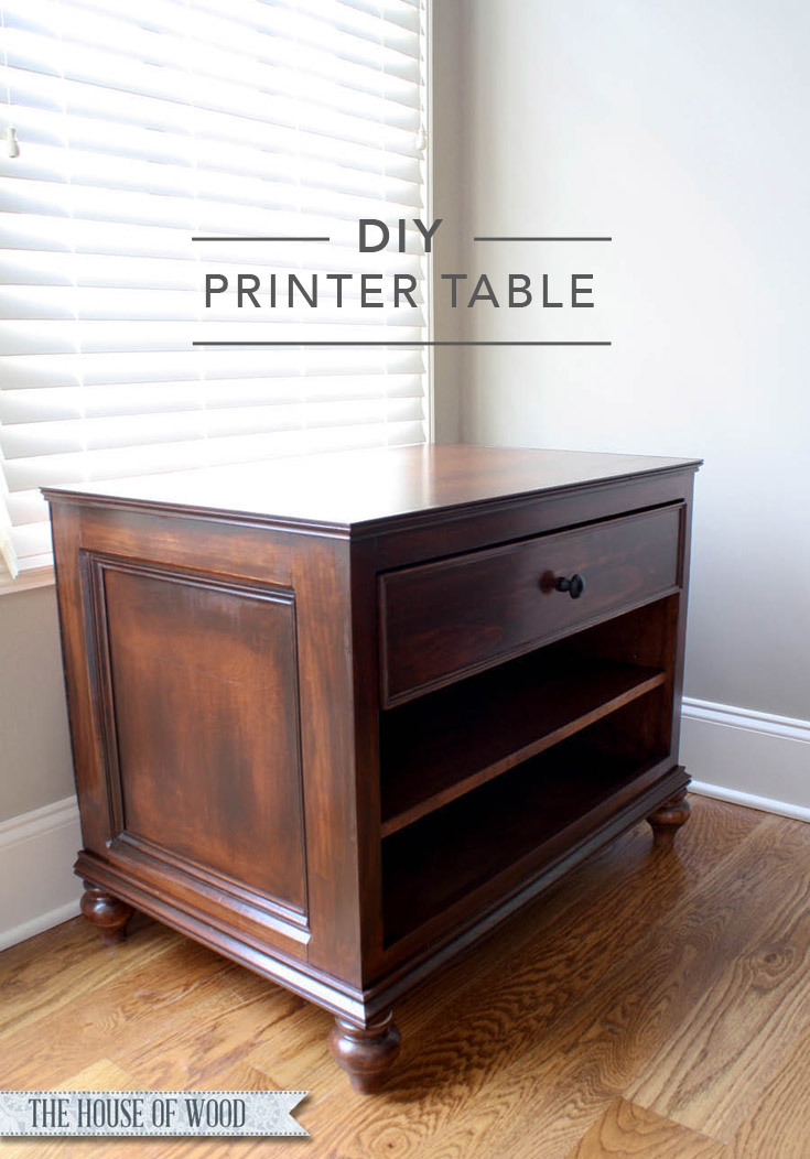 ana white refined printer cabinet diy projects