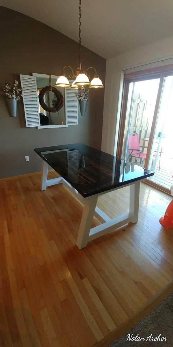 Black And White Beam Table Ana White