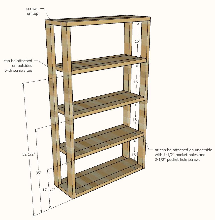Reclaimed Wood Rolling Shelf | Ana White